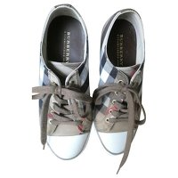 Leather and canvas Sneakers Burberry