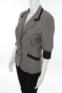 Brown jacket with black trim
