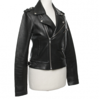 Maje biker style leather jacket