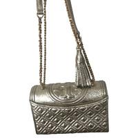 Tory Burch Metallic Leather Handbag