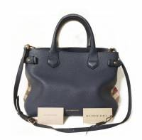 Burberry bag with classic print side panels
