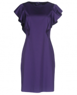 Alberta Ferretti Purple Ruffled Dress