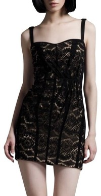 Rag & Bone Black Hadleigh Corset Cocktail Dress