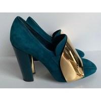 Blue Pump Heels by Yves Saint Laurent YSL