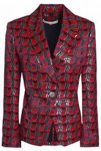 Diane Von Furstenberg Metallic jacquard  jacket