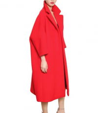 Jil Sander New Season Red Cashmere Blend Coat