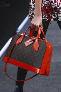 Louis Vuitton Handbag, Red and Brow