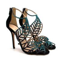 Jimmy Choo Crystal Embellished Cut-out Pumps