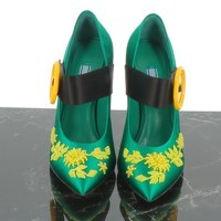 Green Pumps Heels by Prada