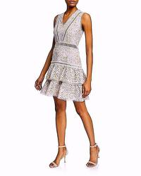 Alice And Olivia Tag Tonie Embroidered Dress