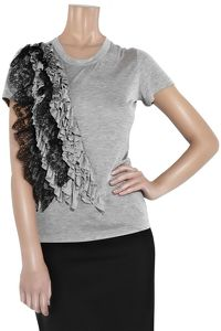 Lace-Detailed T-Shirt