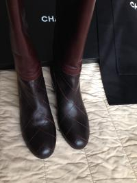 NIB CHANEL Tall Boots size 38.5