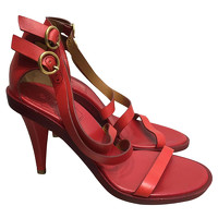 Chloe Leather Sandals In Red