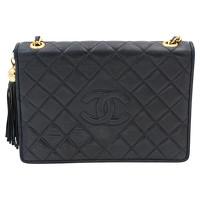 Chanel Handbag With Golden Metal Pompom