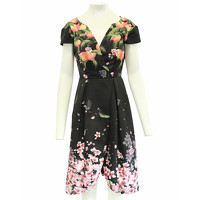 Ted Baker Pleated Print Dress
