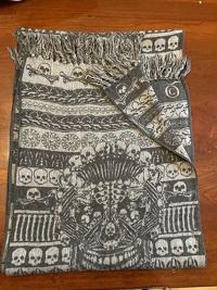 Alexander McQueen wool silk black and Gray scarf