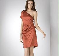 Silk DVF asymmetric dress