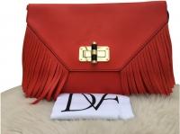 Diane Von Furstenberg Red Fringe crossbody