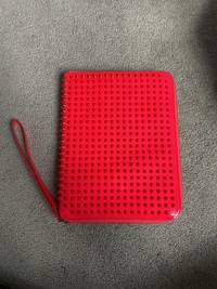 Christian Louboutin Pink Spiked Clutch/iPad Holder