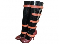 VIVIENNE WESTWOOD BOOTS in black patent leather an