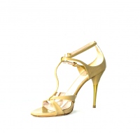 STOP TRAFFIC! Miu Miu heels w/gold back heel strip