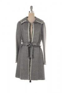 Tweed Fringe Gray Jacket Coat
