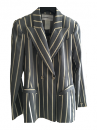 Gorgeous Blue Stripe Thierry Mugler Jacket