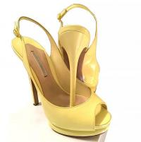 Open Toe Yellow Sling back sandals