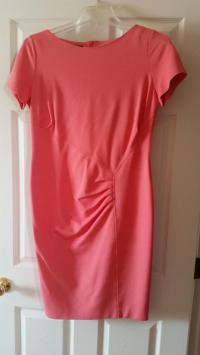 Orange Escada dress