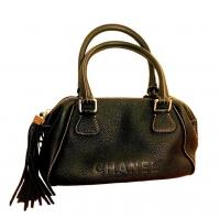 Chanel Pebbled Caviar Tassel Handbag