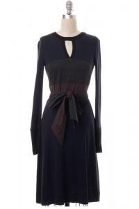 Colorblock Wool Stretch Dress Size XS-TORY BURCH