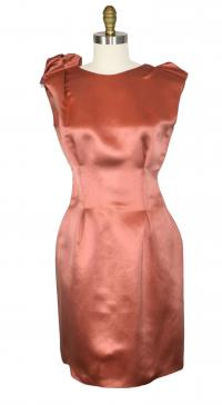 Lanvin duchess satin dart dress