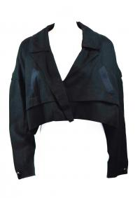 CHLOE dolman cropped black jacket
