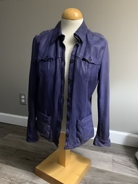 Prada distress leather jacket
