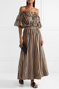 Zimmermann Striped Cotton-gauze set