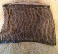 Beaded silk Parker skirt