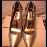 Glamorous Silver Pumps with Stunning embellished b
