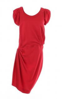 Balenciaga asymetric red dress