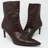 Brown Gucci Leather Ankle Boots