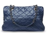 Chanel Blue Quilted Handbag