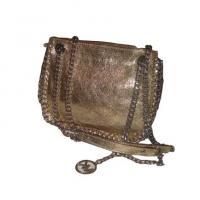 Michael Kors Gold Leather Handbag/Messenger