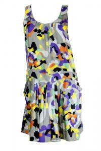 See By Chloe Gray multicolor Pattern Dress