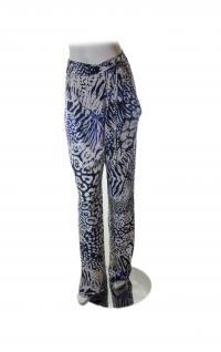 Rebecca Minkoff blue and wht print pants