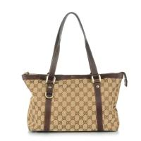Canvas Medium Abbey Tote-GUCCI Monogram