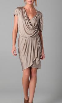 Asymetric Grecian Draped dress
