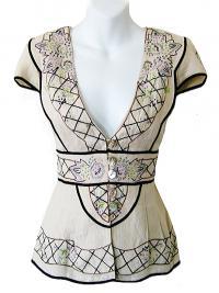 Nanette Lepore embellished blouse