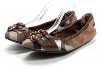 BURBERRY Brown Nova Buckle Elastic Ballet Flats 6.