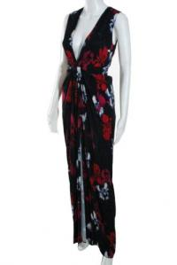 Thakoon Black Winter Bouqet Gown Size 2