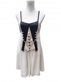 TEMPERLEY LONDON SILK TUXEDO BABYDOLL DRESS US 8