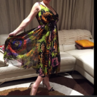 Eye catching cocktail dress